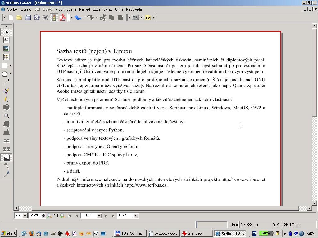 Importovaný dokument OpenOffice.org