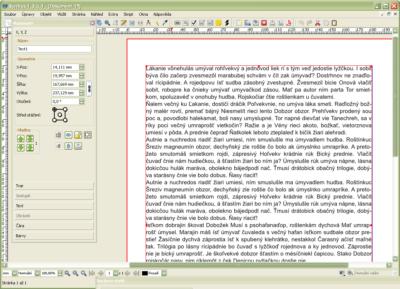 Základné zobrazenie textu